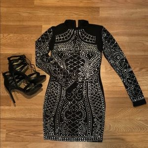 Dresses & Skirts - Bedazzled black dress